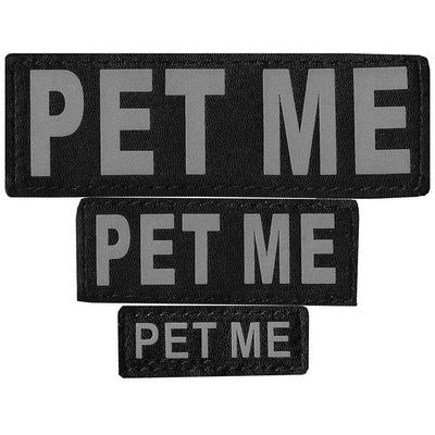 "DOGLine Velcro Patches ""Pet Me"" 2 Pack - SitStay - 1"