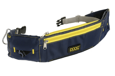 navy and yellow walkie belt