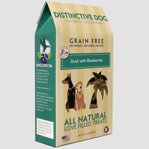 Distinctive Dog Treats - Grain Free Duck with Blueberries