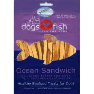 Dogs Love Fish Ocean Sandwich 3.5 oz. bag - SitStay