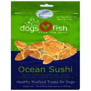 Dogs Love Fish Ocean Sushi 3.5 oz. bag - SitStay