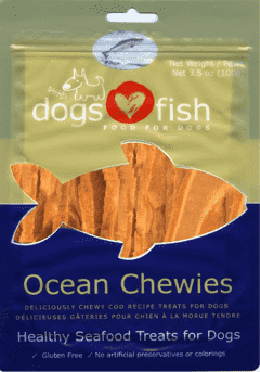 Dogs Love Fish Ocean Chewies 3.5 oz. bag - SitStay