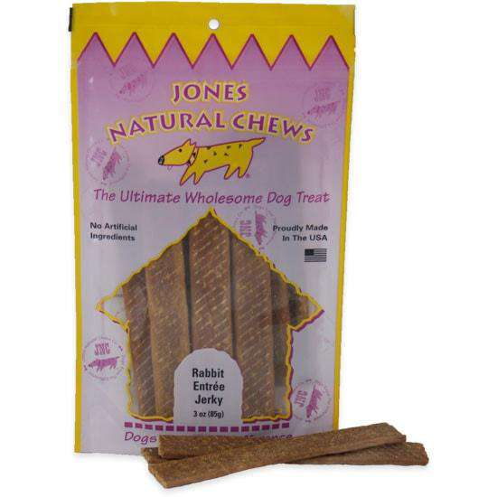 Jones Natural Chews Rabbit Jerky, 3 oz. - SitStay