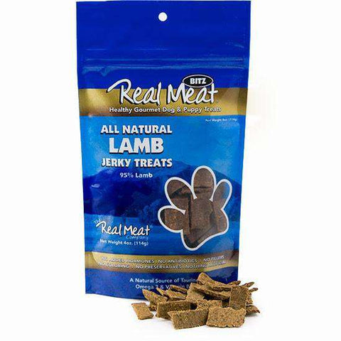 Real Meat Lamb Soft Jerky Nibs, 4 oz - SitStay