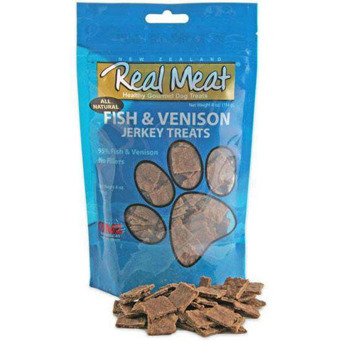 Real Meat Fish & Venison Soft Jerky Nibs, 4 oz - SitStay
