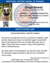 emotional support animal in training ID