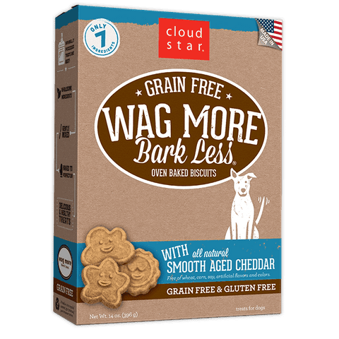 Cloud Star - Wag More Bark Less Oven-Baked Grain Free - Smooth Aged Cheddar - SitStay
