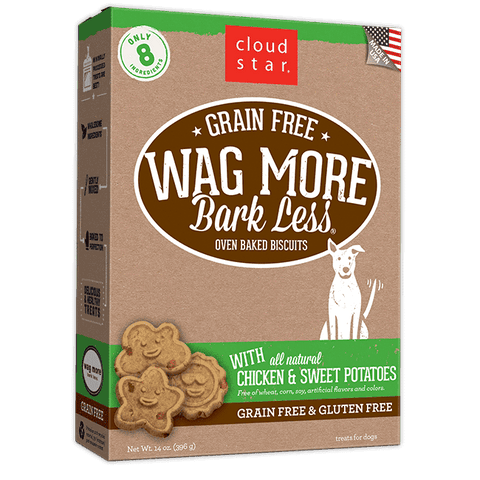 Cloud Star - Wag More Bark Less Oven-Baked Grain Free - Chicken & Sweet Potatoes - SitStay