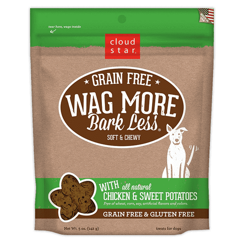 Cloud Star - Wag More Bark Less Soft & Chewy Grain Free - Chicken & Sweet Potatoes - SitStay