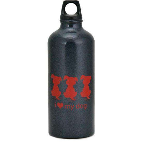 """I Heart My Dog""  Temperature Control Aluminum Water Bottle - SitStay"
