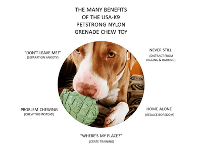 Grenade chew toy benefits