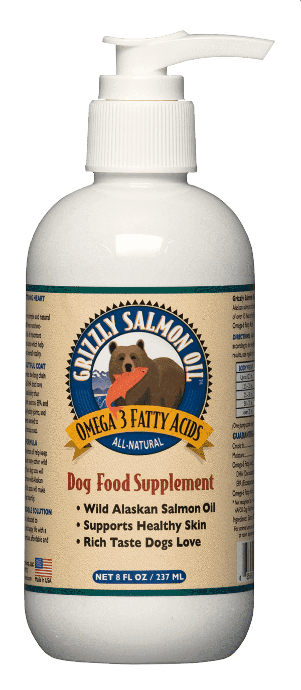 Grizzly Salmon Oil All Natural Dog Food Supplement
