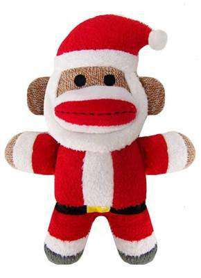 Holiday Baby Sock Monkey Jolly Santa - SitStay