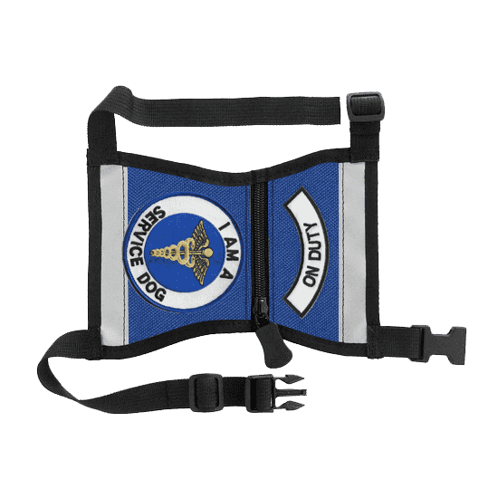 """On Duty - Service Dog"" Cape Style Vest with Pockets - SitStay"