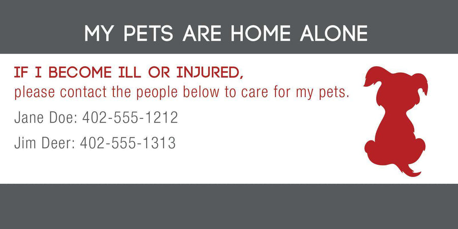 ID Card - Pets Are Home Alone - Simple Design - SitStay