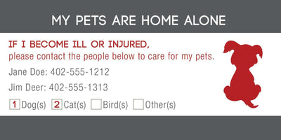 ID Card - Pets Are Home Alone - Checkbox Design - SitStay