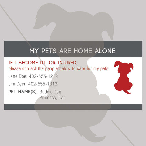 ID Card - Pets Are Home Alone - Name Design - SitStay - 1