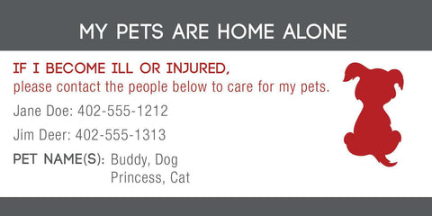 ID Card - Pets Are Home Alone - Name Design - SitStay