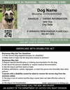 ID Card - Service Dog In Training