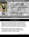 ID Card - Therapy Dog