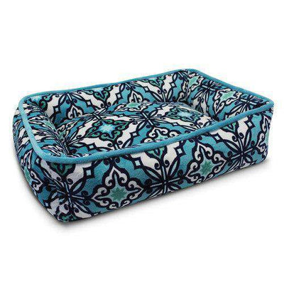 Luxe Pup Capri Teal Lounger Dog Bed by PupIQ