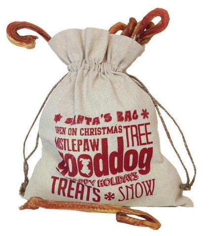 Candy Cane Lane Bully Sticks (Bag of 10) - SitStay