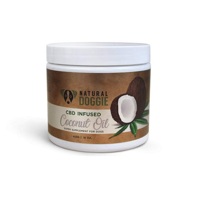 natural doggie cbd infused coconut oil 16oz