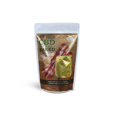 natural doggie cbd infused baked dog treats front