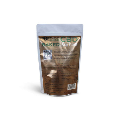 natural doggie cbd infused baked dog treats back