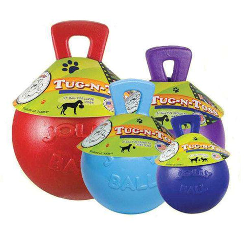 "Jolly Pets - Tug-n-Toss Jolly Ball, 4.5"" - 10"" - SitStay"