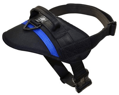 Kinetic Nylon Harness Black/Blue Line