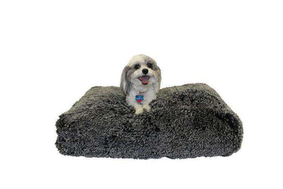 Luxe Pup Gray Chenille Pillow Dog Bed by PupIQ