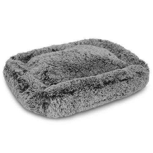 Luxe Pup Gray Chenille Lounger Dog Bed by PupIQ
