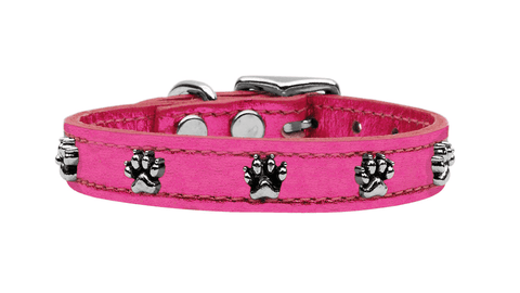 Metallic Pink Paw Collar