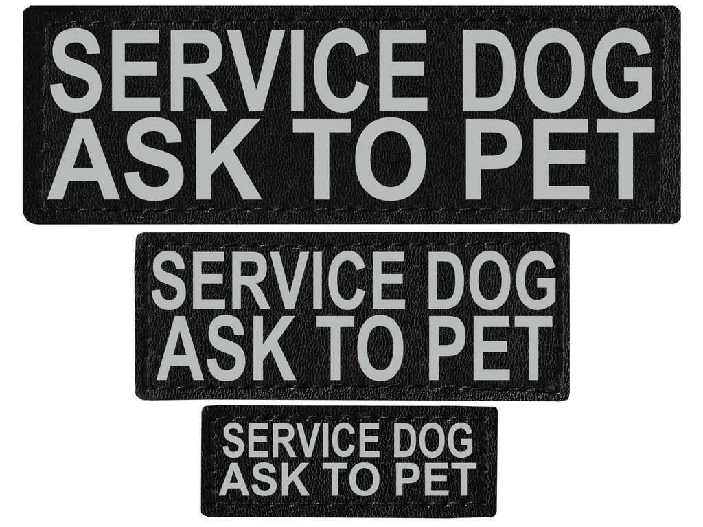 "DOGLine Velcro Patches ""Service Dog Ask To Pet"" 2 Pack - SitStay"