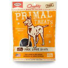 Primal Pet Foods - Dry Roasted Pork Liver Snaps Treats - SitStay