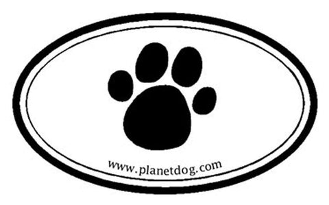 Planet Dog Paw Sticker
