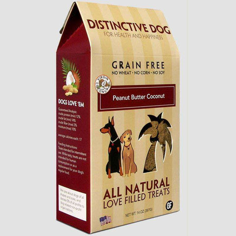 Distinctive Dog Treats - Grain Free Peanut Butter Coconut