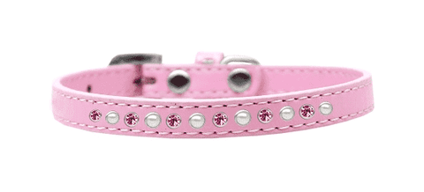Pink Puppy Collar w/ Pearl and Pink Crystals