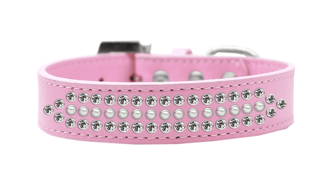 Large Pink Dog Collar with Pearls and Crystals