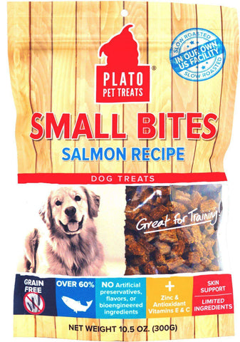 Plato Small Bites Dog Treats, Salmon Flavored