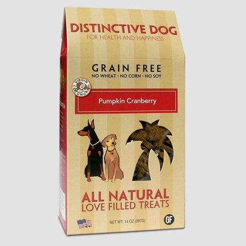 Distinctive Dog Treats - Grain Free Pumpkin Cranberry