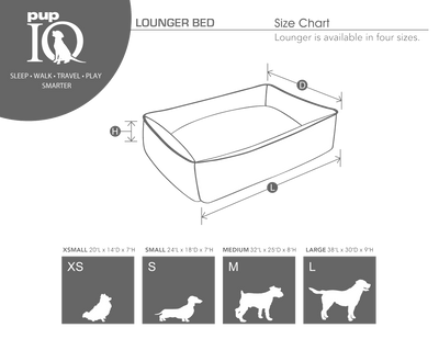 smart pup crypton lounger size chart