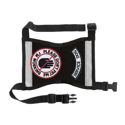 """Don't Pet Me - Service Dog"" Cape Style Vest - SitStay"