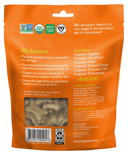 Riley's Organics Apple Organic Dog Treats