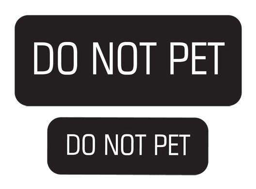 """Do Not Pet"" Velcro Patches 2 Pack"
