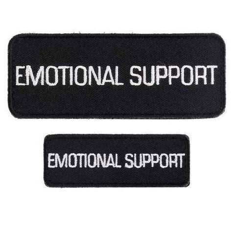 """Emotional Support"" Velcro Patches 2 Pack - SitStay"