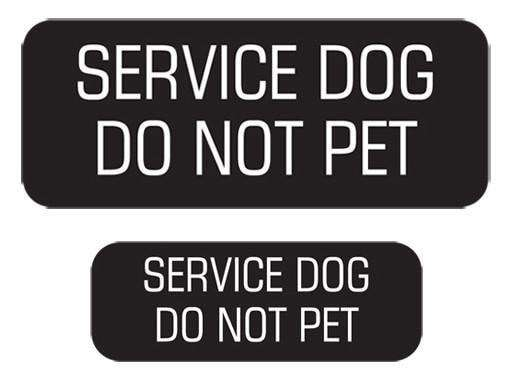 """Service Dog Do Not Pet"" Velcro Patches 2 Pack"