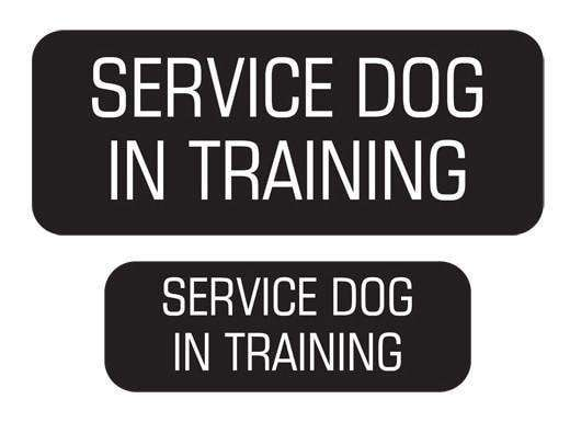 """Service Dog In Training"" Velcro Patches 2 Pack"