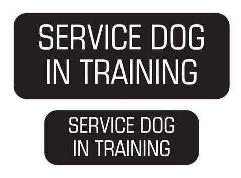 """Service Dog In Training"" Velcro Patches 2 Pack - SitStay"